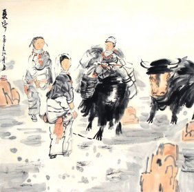 A Zhang Jiang Zhou Chinese Painting (attributed To )
