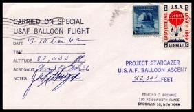"1962, Flown ""Project Stargazer"" Cover"