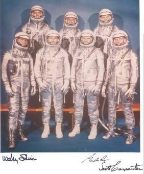 Cooper Carpenter & Schirra Mercury 7 Autographs Gord