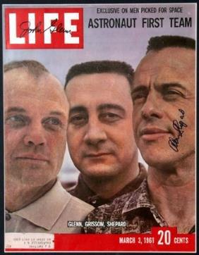 John Glenn And Alan Shepard Mercury Autographs On T