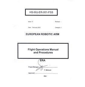 "Shuttle Program ""European Robotic Arm Flight Ops M"