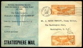 """1935, """"Explorer II"""" FLOWN Cover"""