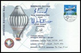 """1998, """"Breitling Orbiter 2"""" FLOWN Cover"""