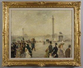 Ernesto Giroux (1851-1888) Veduta Di