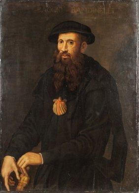 """Scuola Toscana Sec.xvi """"ritratto Di Baccio"""