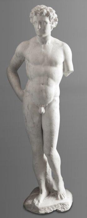 Apollo, Scultura In Marmo Bianco, Roma Sec.