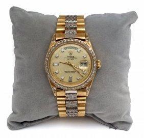 Orologio In Oro Giallo Marca Rolex, Misura Uomo,