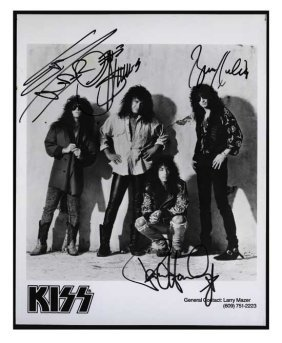 KISS Signed 8 X 10 Publicity Photo
