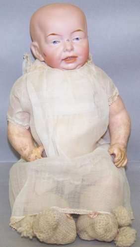 BISQUE HEAD CHARACTER DOLL
