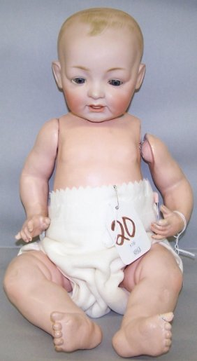 JD KESTNER BISQUE HEAD CHARACTER DOLL