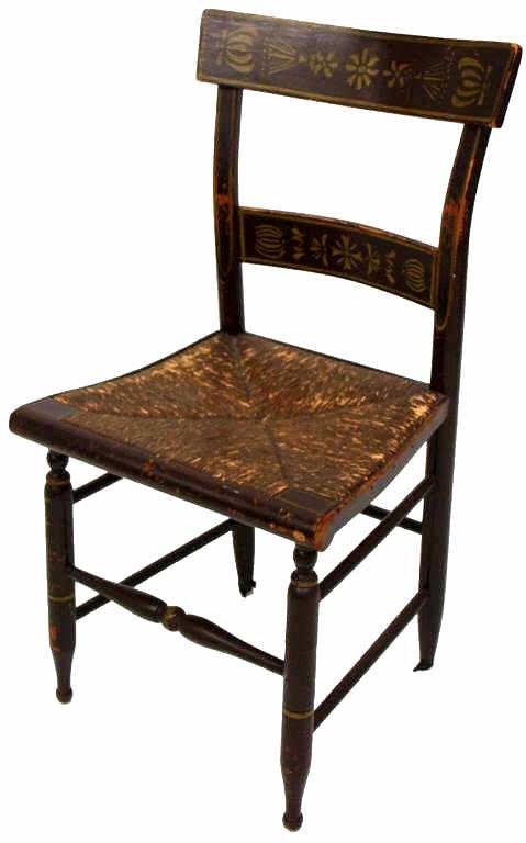 Hitchcock Rush Seat Stool Amp Similar Chairs Lot 258