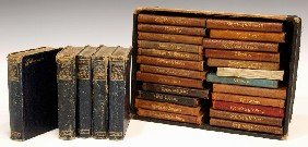 (29) MINIATURE LEATHER BOUND SHAKESPEARE BOOKS