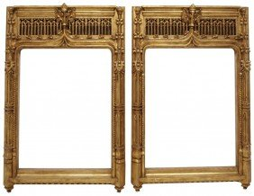 (pair) SPANISH GOTHIC STYLE GILTWOOD FRAMES