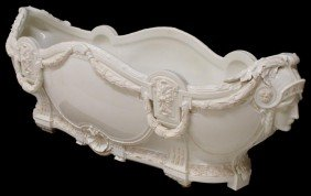RARE FRENCH FIGURAL PORCELAIN JARDINIERE