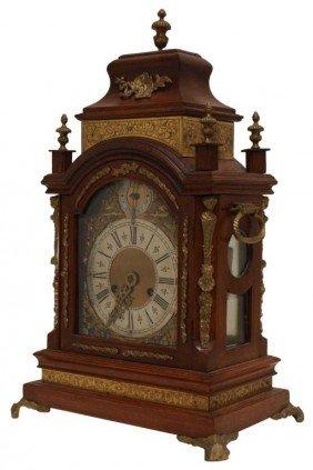 GERMAN WALNUT CASED BRACKET CLOCK