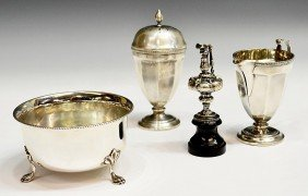STERLING SILVER SERVICE WARE & MINIATURE EWER