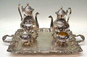 SHERIDAN SILVER PLATE TEA & COFFEE SERVICE