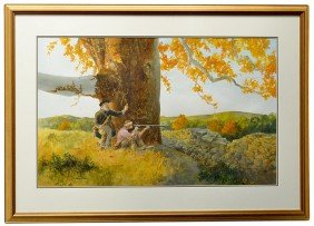 FRAMED PAINTING, CHARLES SHAW (TEXAS, 1941-2005)