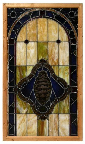 LEADED & STAINED PAINTED GLASS CHURCH WINDOW