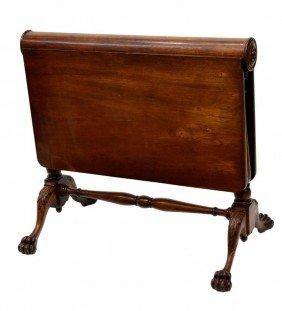 NARROW SUNDERLAND DROP LEAF TABLE, 19TH C.