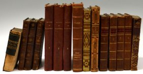 (15) COLLECTION OF ANTIQUE LEATHER BOUND BOOKS