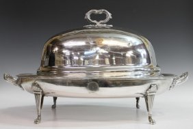 ANTIQUE WELL-AND-TREE MEAT TRAY & DOMED COVER