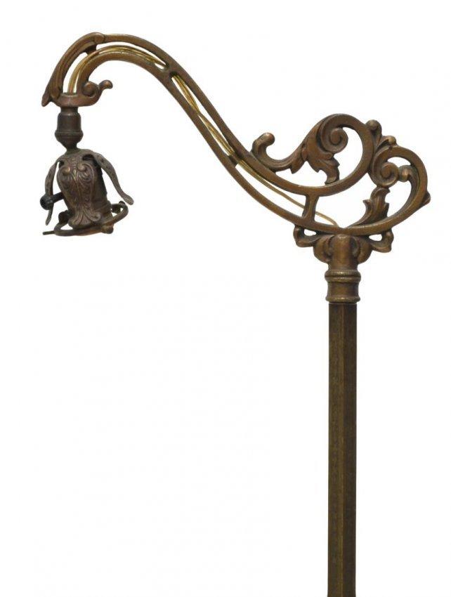 Rembrandt Gilded Iron Bridge Floor Lamp Lot 415