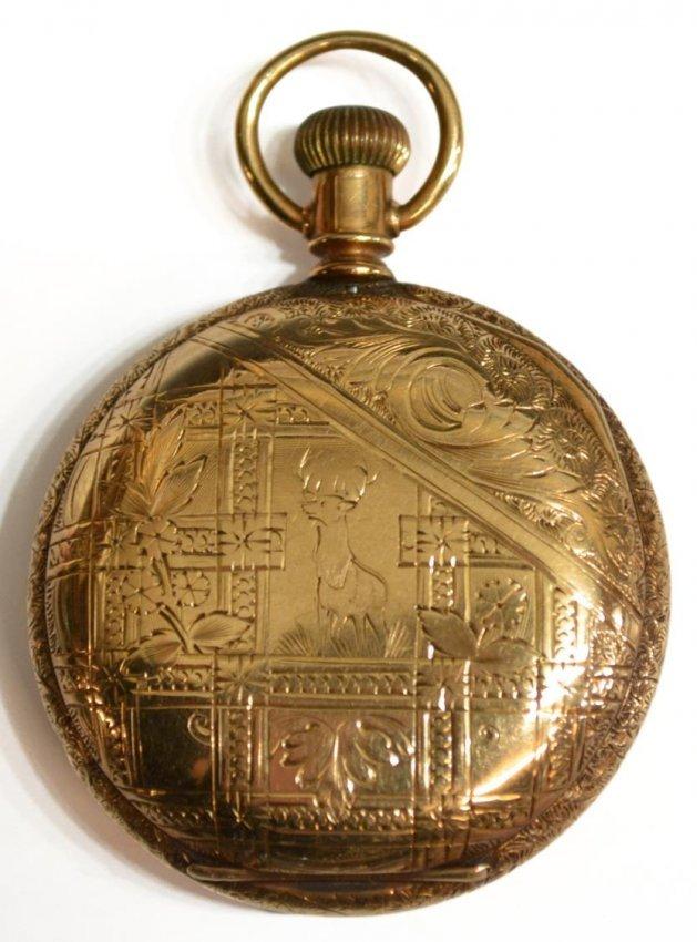 Operating Elgin 14kt Gold 15 Jewel Pocket Watch Lot 9