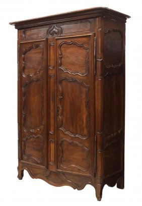 French Provincial Louis Xv Armoire, 18th C.