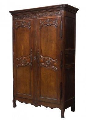French Louis Xv Style Provincial Armoire