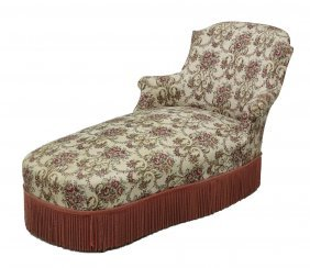 French Upholstered Chaise Lounge