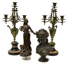 (4) French Aesthetic Movement Decorative Items