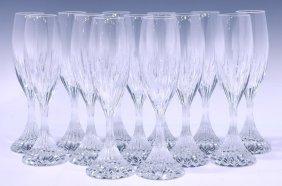 (13) Baccarat Massena Crystal Champagne Flutes