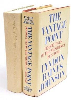 (2) Lyndon & Lady Bird Johson Autographed Books