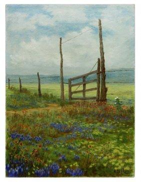 Robert Deleon (b. 1953) Texas Bluebonnets