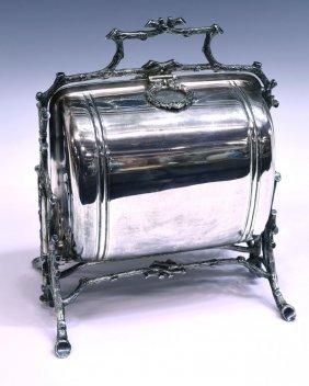Victorian Sheffield Silverplate Muffin Warmer