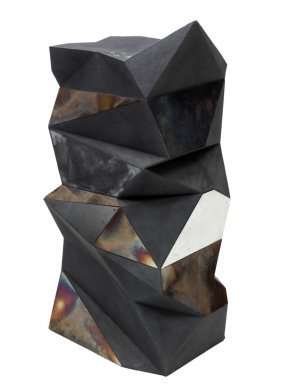 Abstract Molded Plastic & Metal Plaque Pedestal