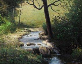 Jerry Ruthven (texas B. 1947) Landscape Painting