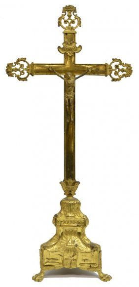 "French Religious Crucifix, 31""h"