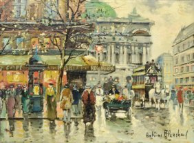 After Antoine Blanchard(1910-1988)cafe Paix Opera