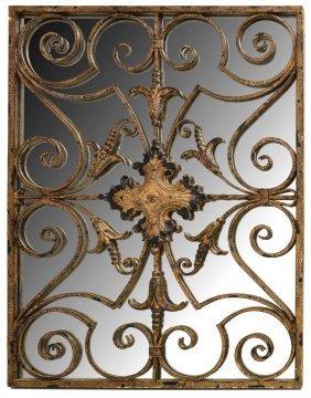Rectangular Distressed Metal Wall Mirror