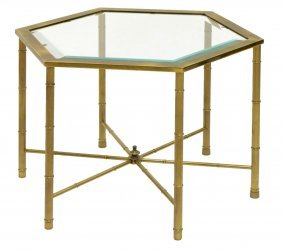 Mastercraft Brass Bamboo Occasional Table