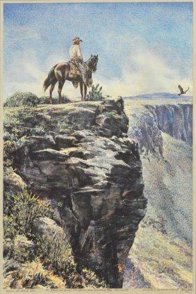 Tom Lea(texas, 1907-2001)signed 1 Of 3 Proof Print