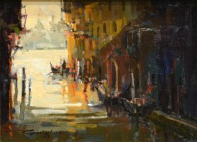Ted Goerschner (mass/cali 1933-2012) Painting