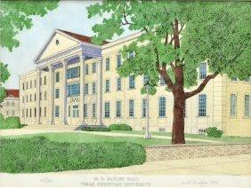Ltd Edition Print Of Texas Christian University