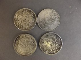 Four Silver Chinese Coins