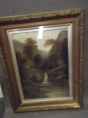 G. Willis Pryce, Oil On Canvas, Mountain Stream,