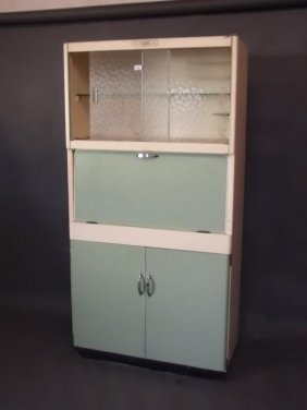 A 1950s 'eastham' Kitchen Cabinet With Fold Down Work