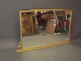 "A Continental Gilt Framed Wall Mirror, 60"" X 39"""
