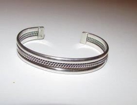 Native American Navajo Sterling Cuff Bracelet